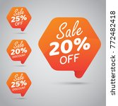 20  25  sale  disc  off on... | Shutterstock .eps vector #772482418