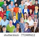 group of diverse people studio | Shutterstock . vector #772489612