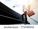 successful businessman  running ... | Shutterstock . vector #772498342