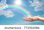 here's a rainbow  for you  ... | Shutterstock . vector #772502086