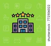 set of hotel icons. vector...   Shutterstock .eps vector #772506022