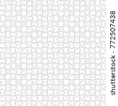 seamless puzzle pattern. mosaic ... | Shutterstock .eps vector #772507438
