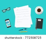 writer workplace  isolated on... | Shutterstock .eps vector #772508725