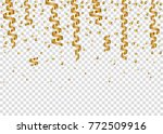 falling golden confetti and... | Shutterstock .eps vector #772509916