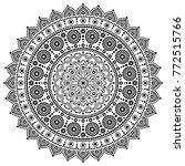 mandala vector monochrome... | Shutterstock .eps vector #772515766