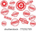 set of rubber stamps   Shutterstock .eps vector #77251735