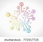 idea concept illustration with... | Shutterstock .eps vector #772517725