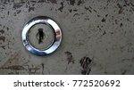 keyhole on old steel plate | Shutterstock . vector #772520692