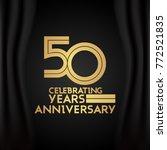 50 years anniversary logotype... | Shutterstock .eps vector #772521835