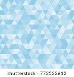seamless blue abstract pattern. ... | Shutterstock .eps vector #772522612