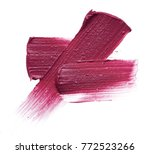texture of lipstick isolated on ... | Shutterstock . vector #772523266