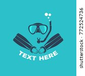 scuba diving logo vector... | Shutterstock .eps vector #772524736