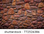 pattern of decorative stone... | Shutterstock . vector #772526386