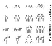 people icons line work group... | Shutterstock .eps vector #772526872