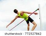 athlete jumper successful... | Shutterstock . vector #772527862