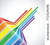 rainbow arrow background | Shutterstock .eps vector #772529698