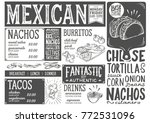 mexican menu for restaurant and ... | Shutterstock .eps vector #772531096