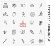 biology line icons set | Shutterstock .eps vector #772531618