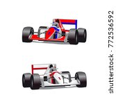 two hound cars  formula ... | Shutterstock .eps vector #772536592