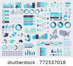 big set of vector infographic... | Shutterstock .eps vector #772537018