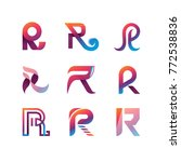 modern letter r logo collection | Shutterstock .eps vector #772538836