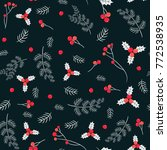vector seamless pattern with... | Shutterstock .eps vector #772538935