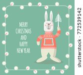 christmas cards with funny... | Shutterstock .eps vector #772539142