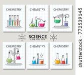 set of scientific laboratory... | Shutterstock .eps vector #772539145