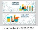 a set of scientific laboratory... | Shutterstock .eps vector #772539658