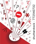 hysterics graphics vector... | Shutterstock .eps vector #772540732