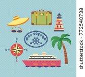 ocean cruise travel icon set....   Shutterstock .eps vector #772540738