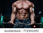 blonde brutal sexy strong... | Shutterstock . vector #772541392