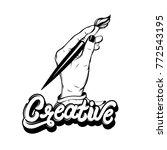 vector hand drawn illustration... | Shutterstock .eps vector #772543195