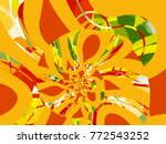 abstract fractal background... | Shutterstock . vector #772543252