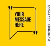 innovative vector quotation... | Shutterstock .eps vector #772544308
