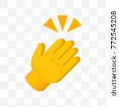 clapping hands with crossed... | Shutterstock .eps vector #772545208