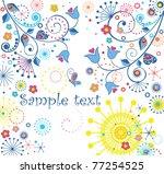 greeting abstract floral card