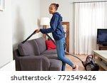 beautiful african american... | Shutterstock . vector #772549426