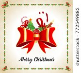 christmas greetings card with... | Shutterstock .eps vector #772549882