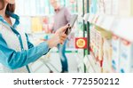 woman shopping at the... | Shutterstock . vector #772550212