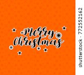 merry christmas background | Shutterstock .eps vector #772552162