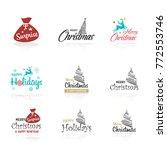 christmas greetings... | Shutterstock .eps vector #772553746