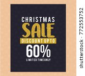 christmas sale discount card | Shutterstock .eps vector #772553752