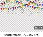 seamless colored garlands and...   Shutterstock .eps vector #772557475