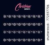 christmas border  snowflake... | Shutterstock .eps vector #772557706