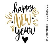 happy new year hand written... | Shutterstock .eps vector #772565722