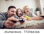 competitive young family... | Shutterstock . vector #772566166