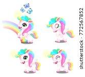 set of cute magic sweet... | Shutterstock .eps vector #772567852