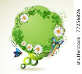 green background with... | Shutterstock .eps vector #77256826