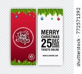 party poster merry christmas... | Shutterstock .eps vector #772571392